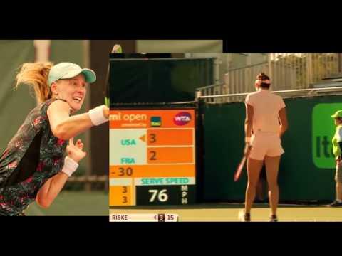 WTA Miami 2018 Highlights Caroline Garcia vs Alison Riske:  Risky move upsets World No. 7 Garcia,