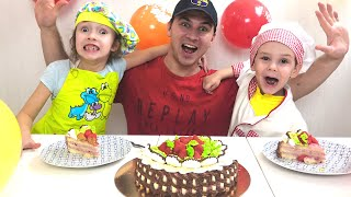 Happy birthday day cake with kids and family fun - Happy birthday song for baby