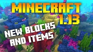 ►Minecraft 1.13: NEW ITEMS AND BLOCKS REVIEW! (MC 1.13 NEWS)◄