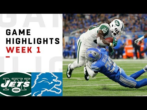 Jets vs Lions Week 1 Highlights  NFL 2018