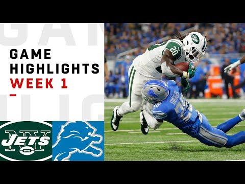 Jets vs. Lions Week 1 Highlights | NFL 2018