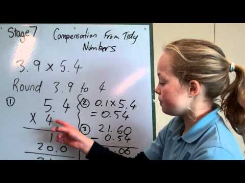 Compensation from Tidy Numbers New Zealand Numeracy Project Stage 7