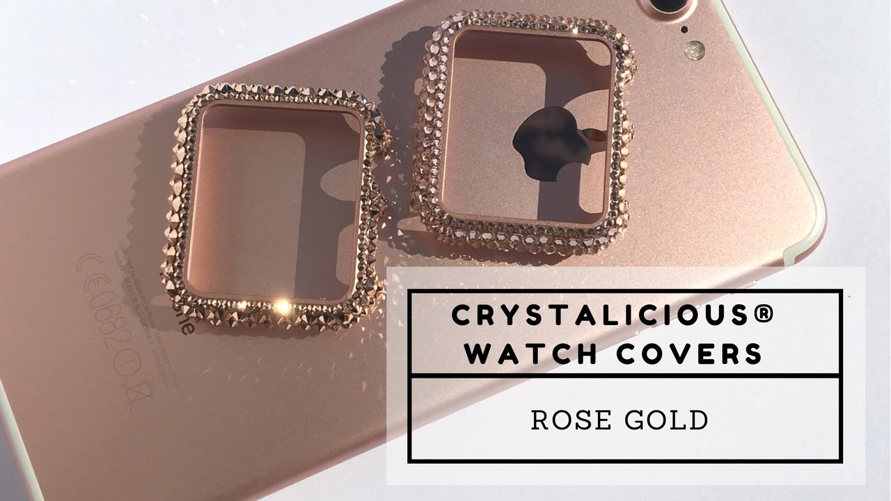 separation shoes 849a0 332ff Crystalicious® Rose Gold Apple Watch covers embellished with SWAROVSKI®  Crystals.