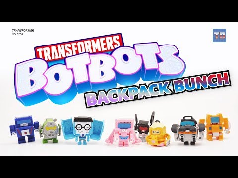 Transformers Botbots Team BACKPACK BUNCH! Video Robot Toy Review!