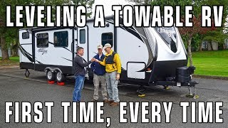 Leveling Travel Trailers & 5th Wheel RVs with LevelMatePRO