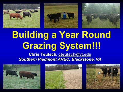Building a Year Round Grazing System-Chris Teutsch