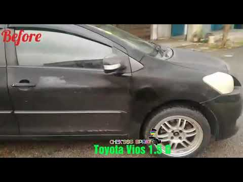 Toyota Vios 1.5G Repaint Black Mica Metallic By Chek'sss Spray