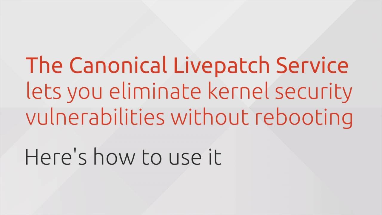 From the Canyon Edge: Hotfix Your Ubuntu Kernels with the