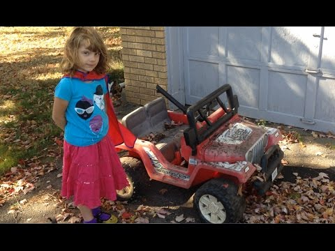 Daughter and I Restore Trashed Power Wheels Jeep Found on Curb