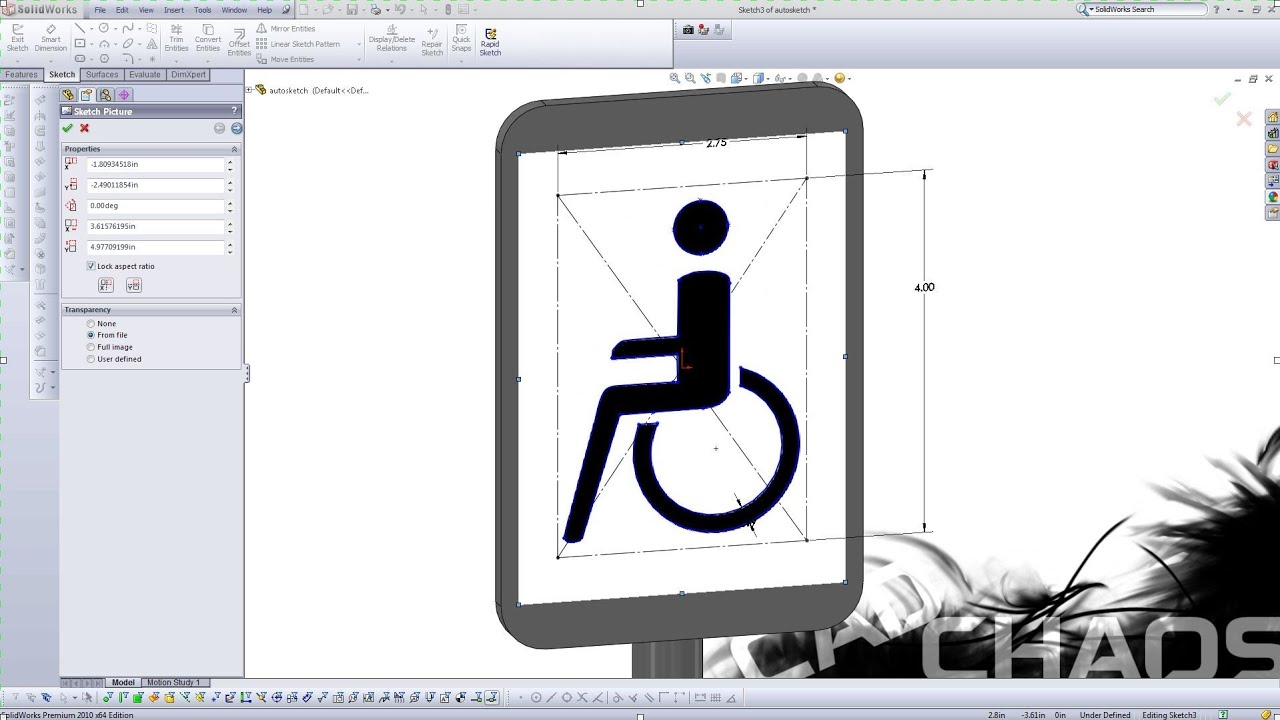 Solidworks How To Auto Trace an Imported Image