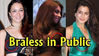 Top 10 Bollywood Actresses Caught Braless in Public
