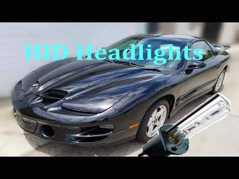 How to Replace Pontiac Firebird Trans Am Headlights 1998-2002 (HID Conversion Kit Install)