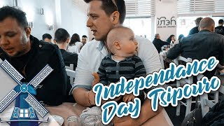 GREEK INDEPENDENCE DAY TSIPOURING | with a baby... - Vlog 560