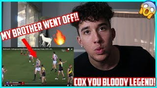 American Reacts to Richmond v Collingwood Match Highlights | AFL Preliminary Finals 2018 | Mason Cox