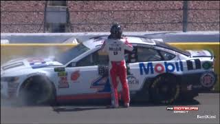 Monster Energy NASCAR Cup Series Las Vegas 2018 Harvick Jones Crashes