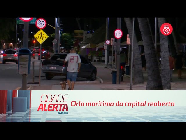 Orla marítima da capital reaberta: Movimentação do momento