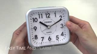 JCC Silent Sweep Second Hand Analog Quartz Alarm Clock Unboxing and Review - TB553