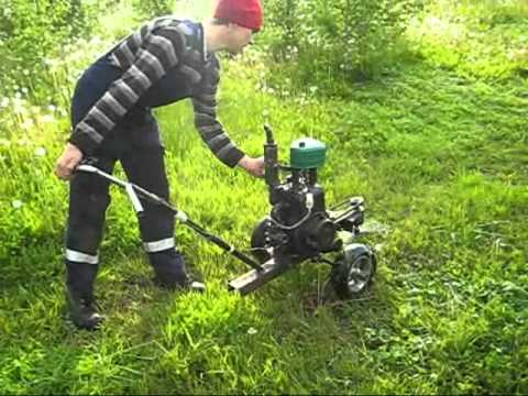 Testing The Homemade Mower Youtube