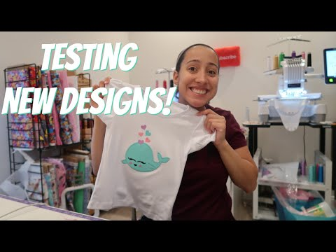 MAKING EMBROIDERY DESIGNS & TESTING THEM! Etsy Embroidery Business