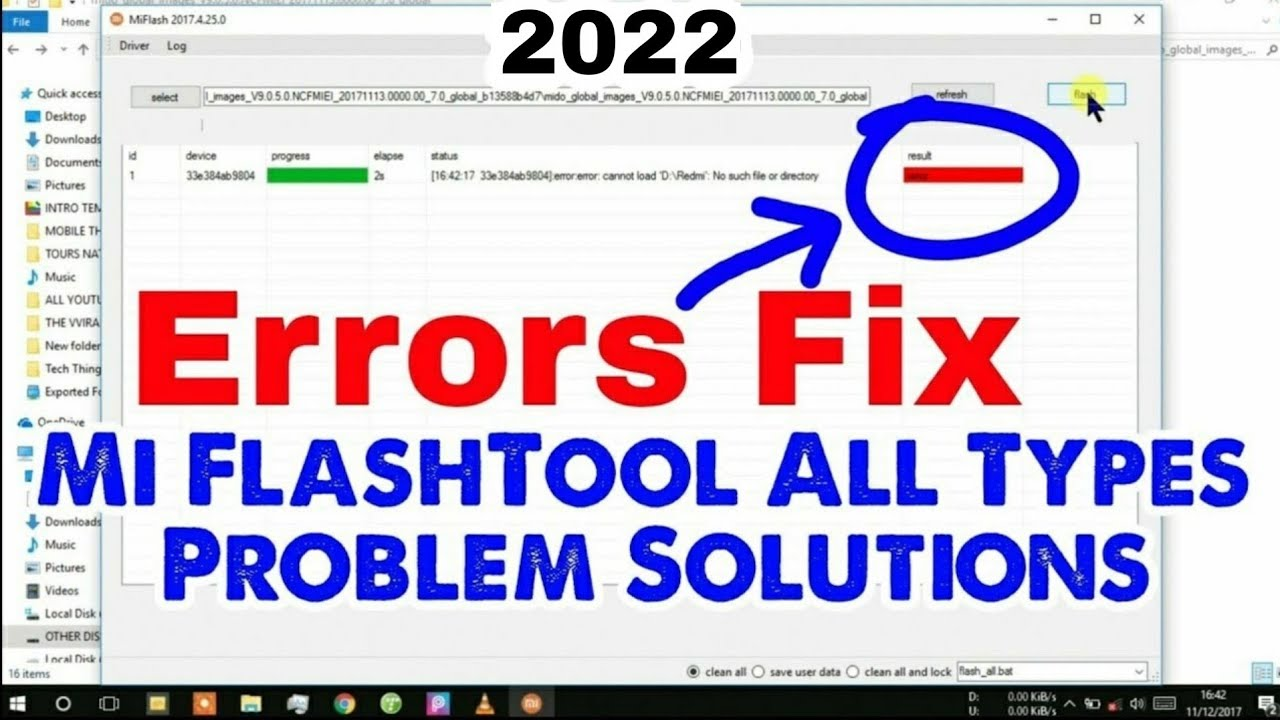 Mi Flashtool Error Solution || Mi Flashing Fix All Type Problem 10000% ✓ Working Method