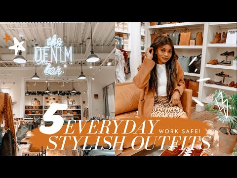 [VIDEO] - 5 Stylish (+ Work Safe) Fall Outfits | FT.  MADEWELL 2