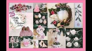 25 SHABBY CHIC CHRISTMAS DIY's on a Budget | Cottagecore Christmas in July Decor Tutorials Beginner