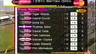 2000 British Open Championship golf Sunday