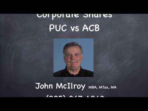PUC Vs ACB -- Repurchasing Shares