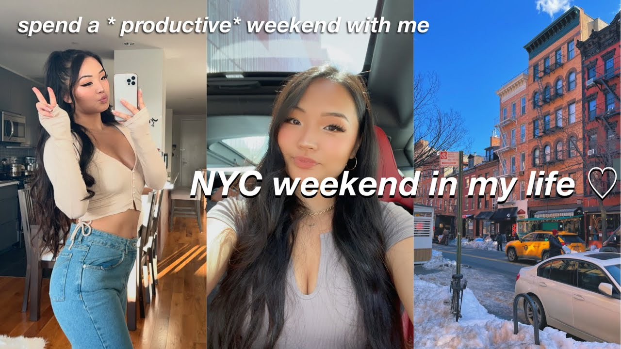 VLOG | new york city rooftops, working out, & picnic with friends