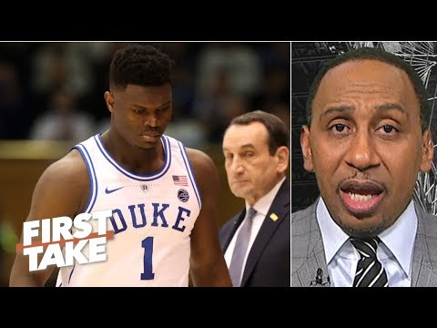 Duke's 2019 NCAA title hopes are done without Zion Williamson - Stephen A. | First Take