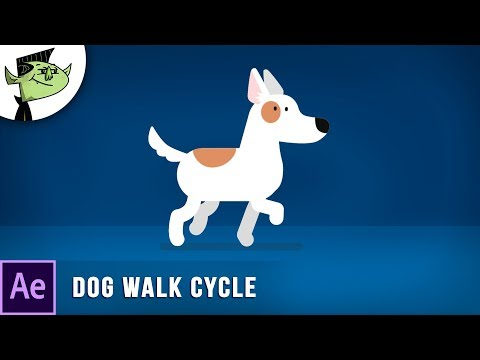 Animate Cartoon Dog Walking Cycle in After Effects