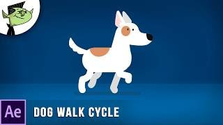 Animer le Chien de bande dessinée de Marche de Cycle dans After Effects