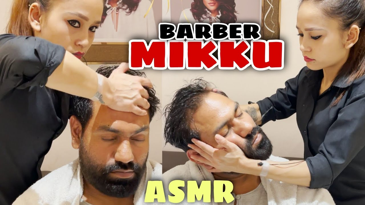 Download ASMR Head massage therapy with Neck Cracking by Indian female  BARBER MIKKU