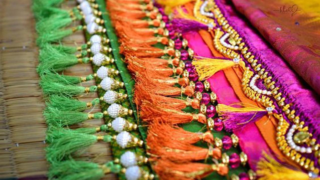 latest saree kuchu tassel designs   youtube