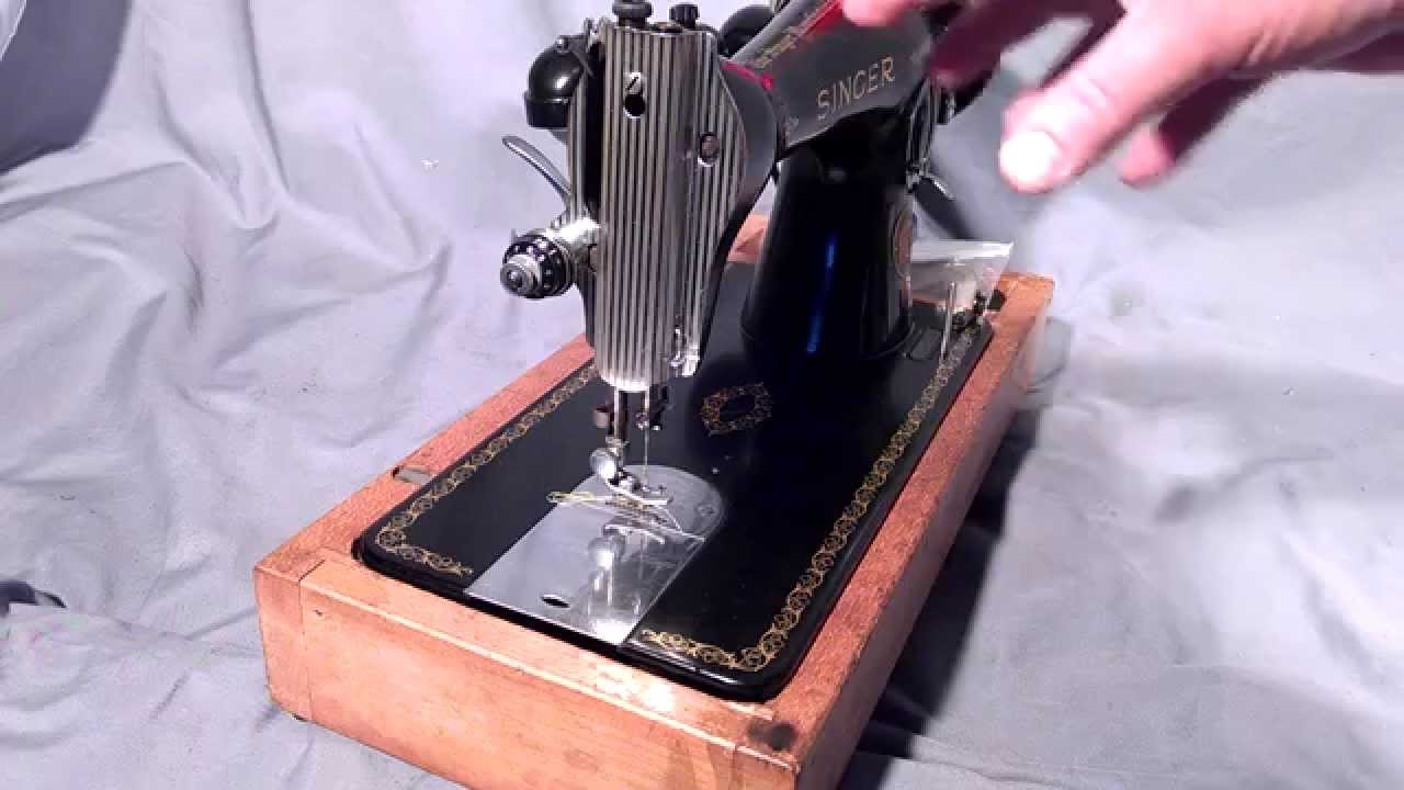 How to Thread Vintage Antique Singer Treadle Electric Sewing Machine Bobbin  15-30 86 87 88 89 90 91