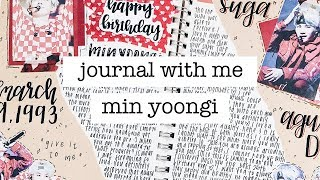 kpop journal with me // suga's birthday #myarmyhustlelife | finessejournal