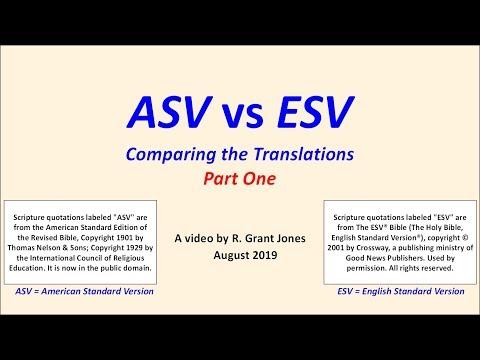 ASV vs ESV Part 1 - YouTube