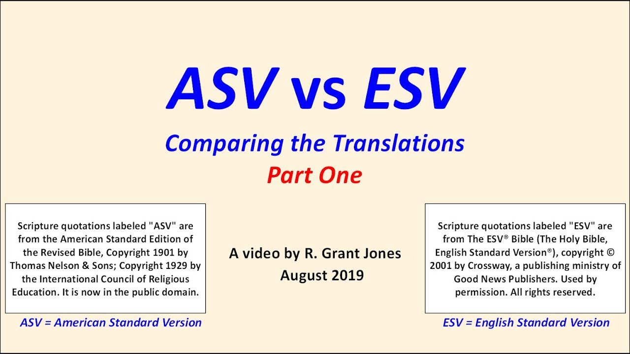 ASV vs ESV Part 1