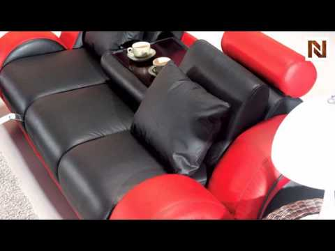 Contemporary Black And Red Sofa Set VGEV4088 2