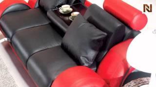 Contemporary Black And Red Sofa Set Vgev4088-2