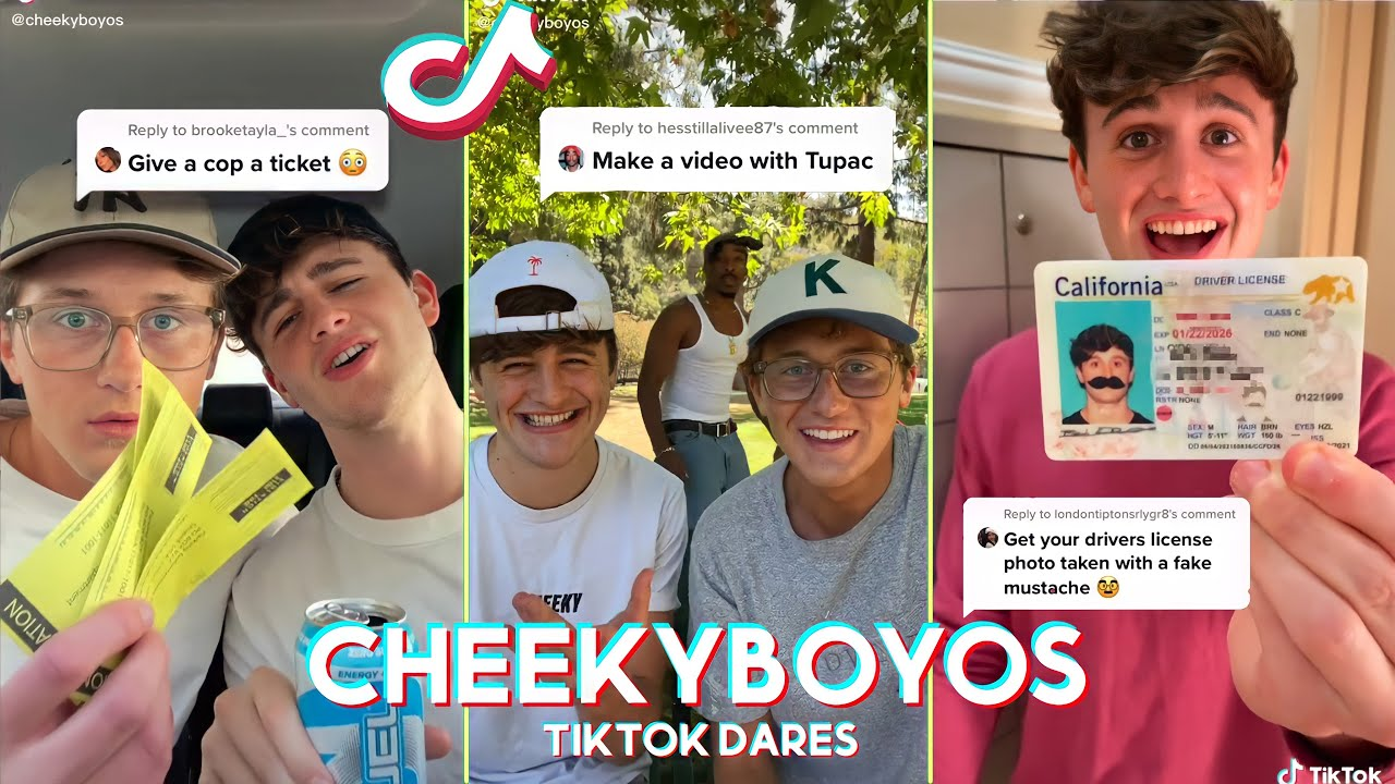 Funny THE CHEEKY BOYOS TIKTOK DARES - Make a video with Tupac Dare - The Cheeky Boyos tiktok 2021