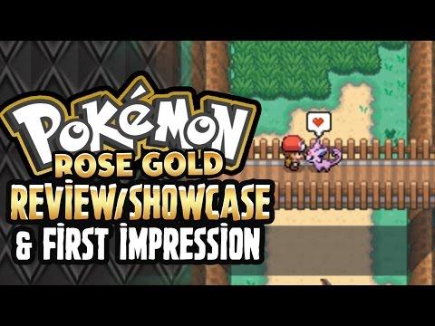 Pokemon Rose Gold - Pokemon Fan Game Review/Showcase