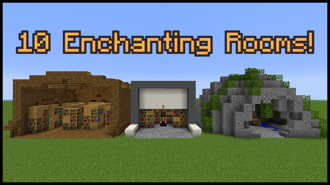 Minecraft How To Make Best Enchanting Room