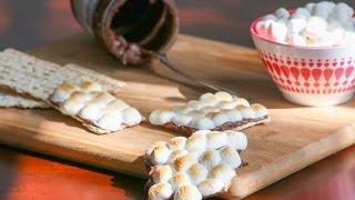 Chocolate Peanut Butter Matzo S'mores