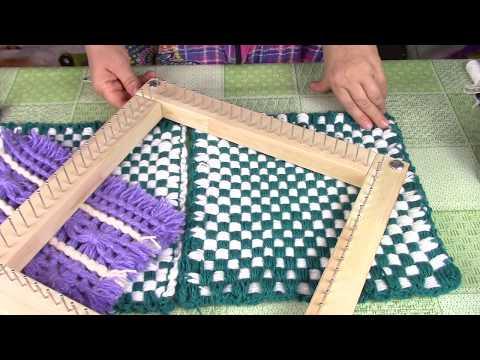 Плетение на рамке без сшивания/ Weave on the frame without stitching. ХоббиМаркет