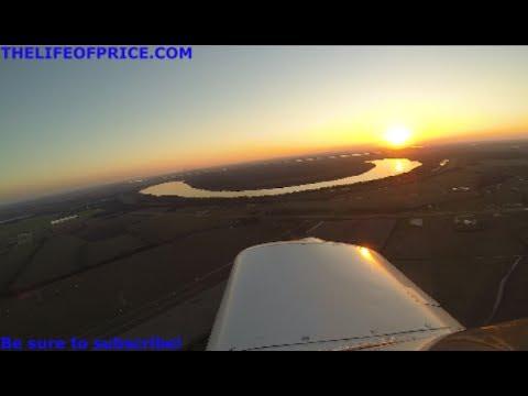 SUNSET FLIGHT OVER THE MISSISSIPPI DELTA / RIVER