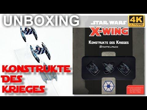 Star Wars X-Wing 2. Edition: Konstrukte Des Krieges - WAVE 3 - Unboxing - Servants Of Strife (4K)