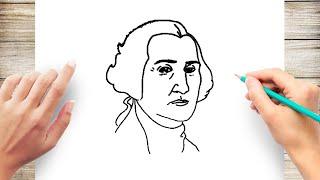 How to Draw George Washington Step by Step