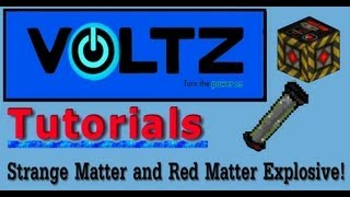 Updated Strange Matter Generator and Red Matter Explosive (ICBM) Voltz Tutorial