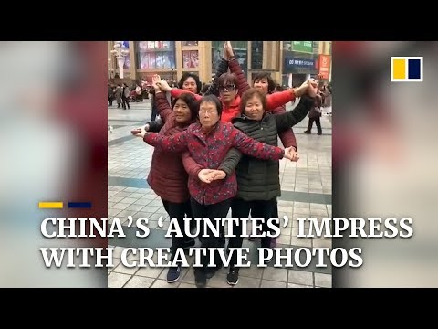 Chinese 'aunties' impress with creative photo poses